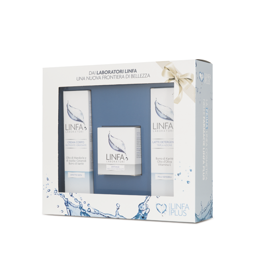Windowed card box for skincare cosmetics line