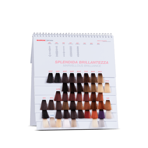 Color chart with spiral