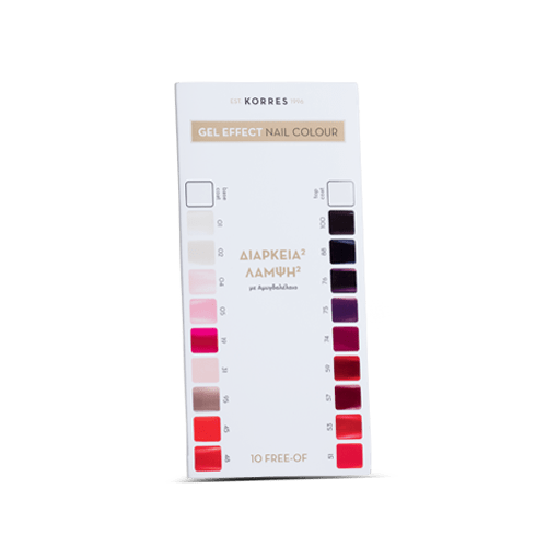 Nail polish color chart with magnet