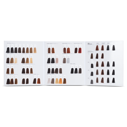Premium 3 folded color chart with clip